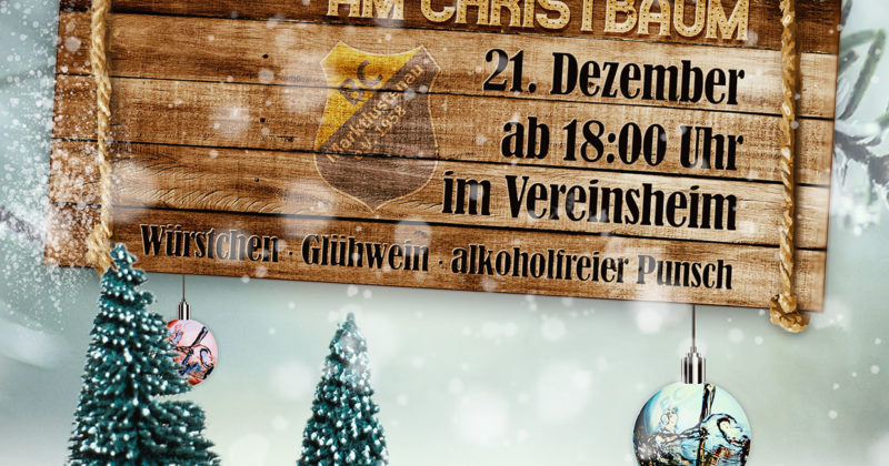 Adventsfeier am Christbaum